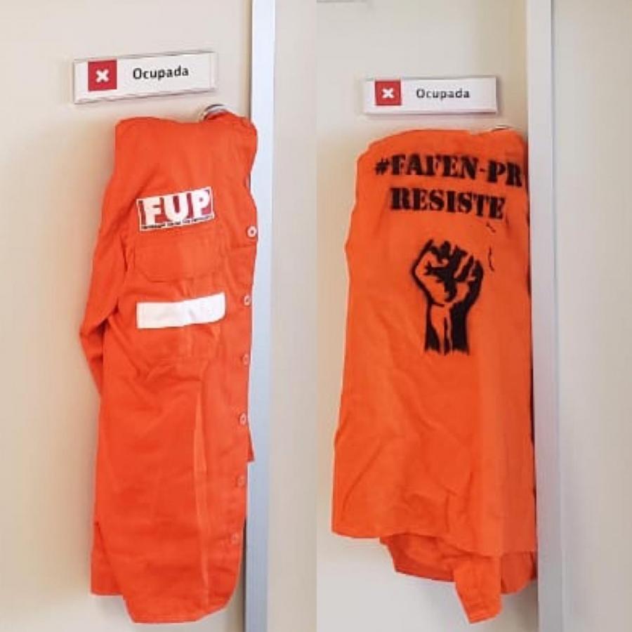 Petroleiros ocupam sede da Petrobrás e exigem suspensão das demissões na Fafen-PR